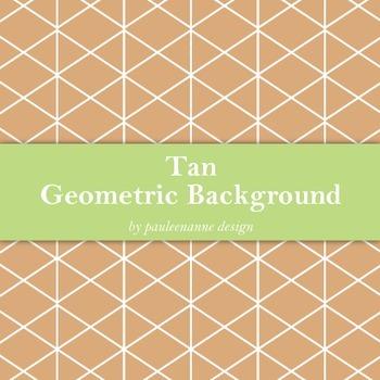 Tan Geometric Background