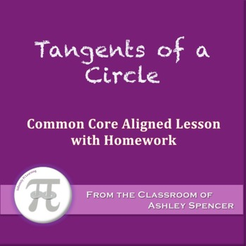 Tangents of a Circle (Lesson with Homework)