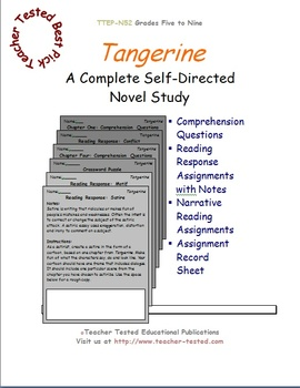 Tangerine: A Complete Novel Study