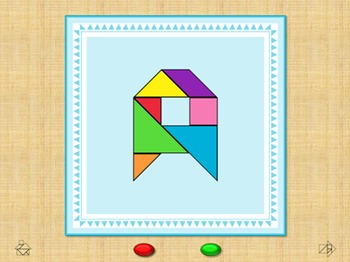 Alphabet Flash Cards - Tangram - Interactive PowerPoint Sl