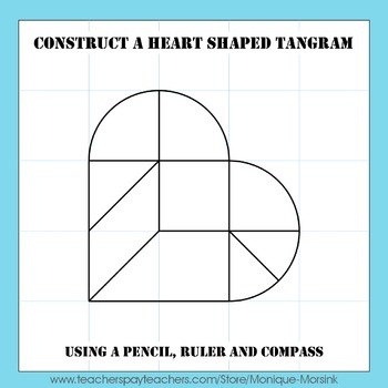 Tangram Construction – How to construct a heart shaped tangram 2