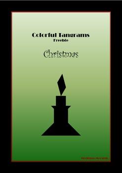 Tangram Freebie - Christmas Puzzle / Candle - Math Mats &