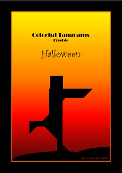 Tangram Freebie - Halloween Puzzle / Mummy - Puzzle Cards