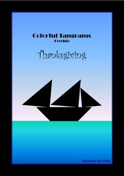 Tangram Freebie - Thanksgiving Puzzle / Mayflower - Puzzle