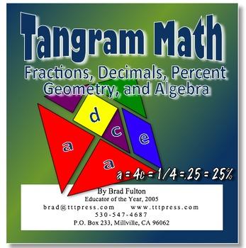 Tangram Math: Integrating Fractions, Decimals, Percent, Ge