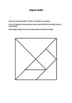 Tangram Outline for 2-D Shapes