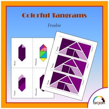 Tangram Polygons 0 - Solve 4x1 Puzzle {Freebie}