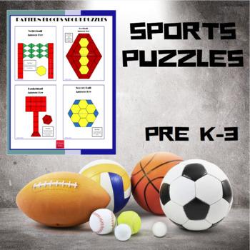 Pattern Blocks Sport Puzzles