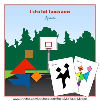 Tangram - 20 Sports Puzzles - Puzzle Cards and Pieces