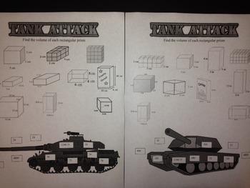 Tank Attack- Volume of Rectangular Prisms