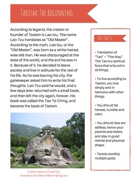 Taoism vs. Confucianism: Informative Text and Group Discus