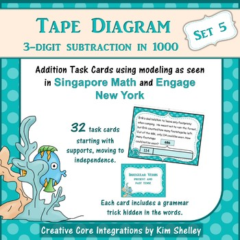 Tape Diagram 3-Digit Subtraction within 1000 (Set 5)