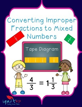 Tape Diagram:Converting Improper Fractions to Mixed Numbers