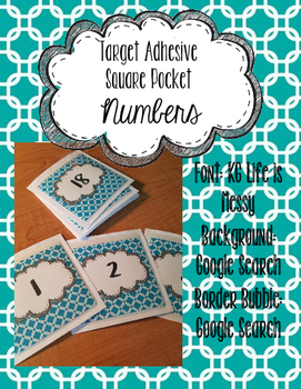 Target Adhesive Square Label Pockets Number Printable