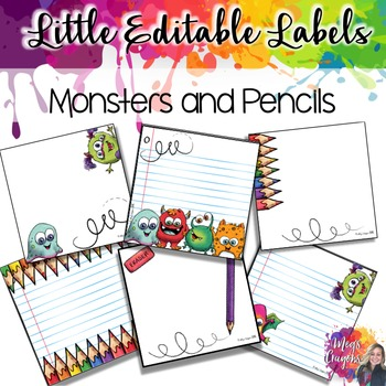 Target Labels-Monsters and Pencils