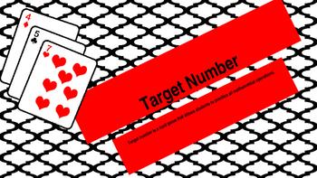 Target Number Card Game