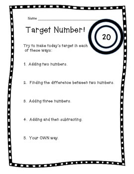 Target Number - Warm Up Routine
