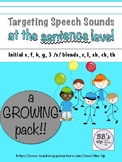 Targeting Speech Sounds at the Sentence Level, A Growing Pack