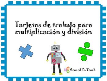 Tarjetas Repaso Solucion de Problemas Multiplicacion Divis