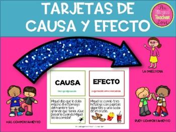 Tarjetas de Causa y Efecto en Españo