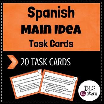 Tarjetas de Idea principal y detalles / Main idea and deta