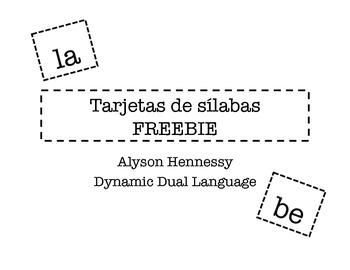 Tarjetas de silabas  FREEBIE!