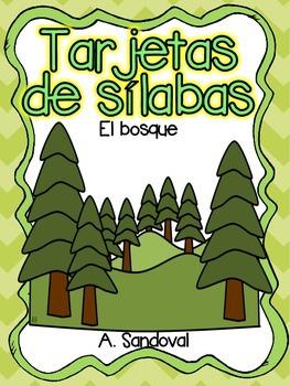 Tarjetas de sílabas-El bosque
