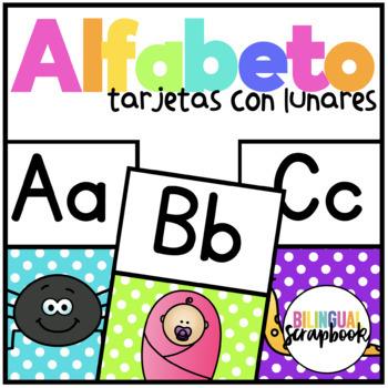 Tarjetas del Alfabeto (Alphabet Posters in Spanish) Polka Dots