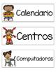 Tarjetas del horario (Schedule cards SPANISH)