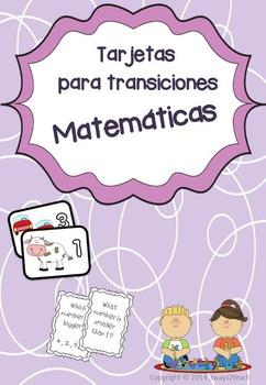 Tarjetas para transiciones Matemáticas