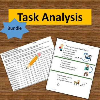 Task Analysis BUNDLE: 15 Routines from ALL  3 Sets, Visual