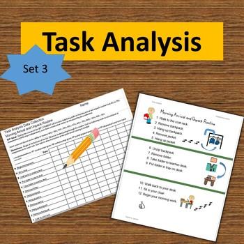 Task Analysis Set 3--Data Collection, Visual Instruction,