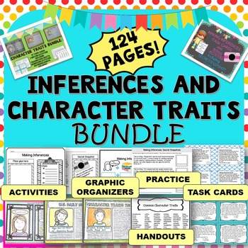 Inference Task Cards and Character Traits Task Cards, Acti
