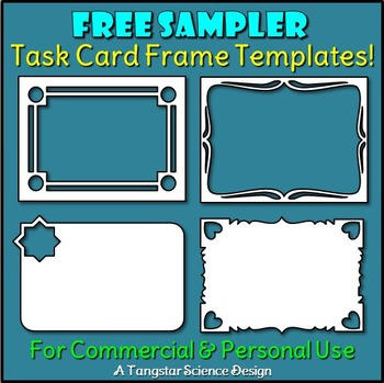 Task Card Frame Templates - Four Free Samplers {Commercial