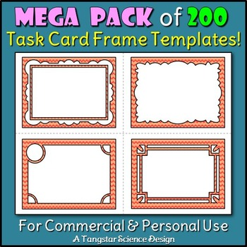 Task Card Frame Templates - MEGA PACK - 200 Templates {Com