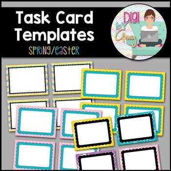 Task Card Templates clipart - Spring - Easter