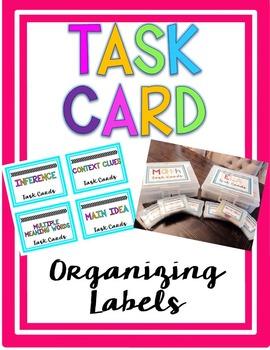Task Card Label Organizer