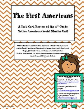 Task Card Review of the 4th Grade Native Americans Social