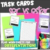 Task Card Set - Ser vs Estar in Spanish Sentences