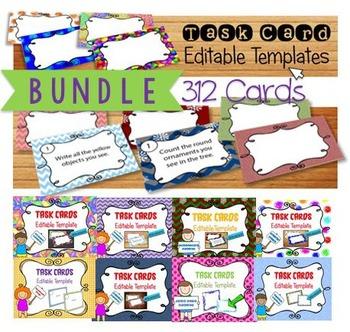 Task Card Template Design {EDITABLE} Ready to use (BUNDLE 1)