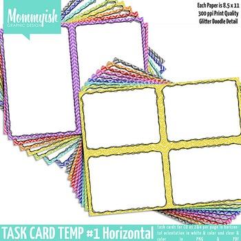 Task Card Templates #1 - 2x1 & 2x2 Horizontal Bundle – Rai