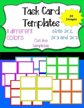 Task Card Templates For Commercial and Personal Use