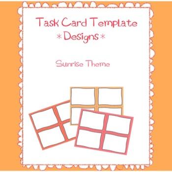Task Card Templates Design-Sunrise Theme