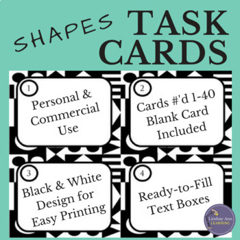 Task Card Template with Geometric Shapes