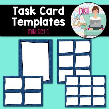 Task Card Templates clipart - MINI SET 1