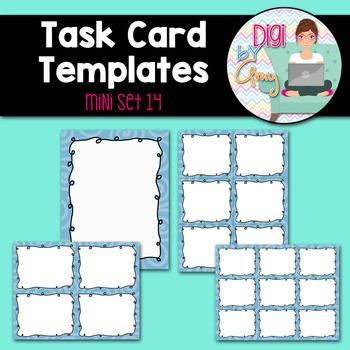 Task Card Templates clipart - MINI SET 14