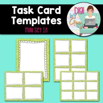 Task Card Templates clipart - MINI SET 18