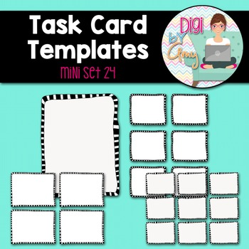 Task Card Templates clipart - MINI SET 24