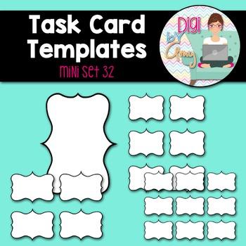 Task Card Templates clipart - MINI SET 32