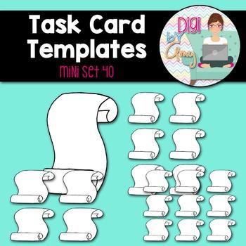 Task Card Templates clipart - MINI SET 40